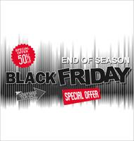 Big sale and super offer Black Friday background retro design