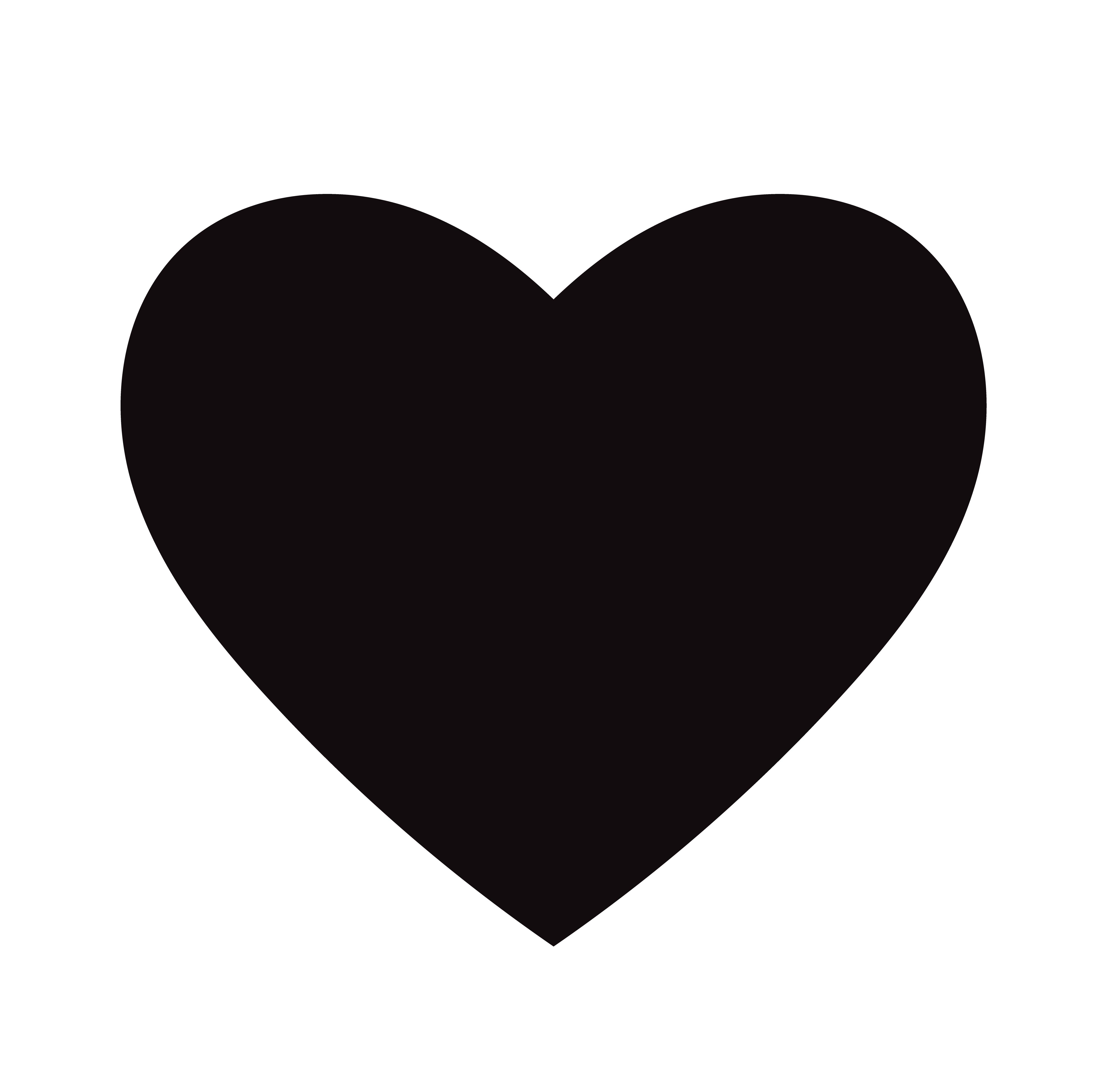 Icona Del Cuore Nero Piatto Isolato Su Sfondo Bianco Illustrazione