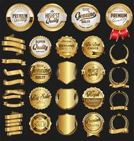 Guldförsäljning etiketter retro vintage design samling