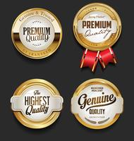 Retro gouden badge vector illustratie collectie