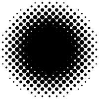 Gedetailleerde vectorhalftone voor achtergronden en ontwerpen