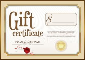 Certificado de regalo vector
