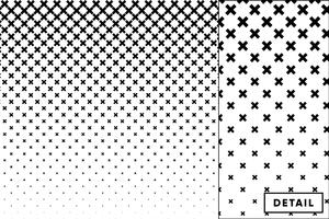 Detailed vector halftone for backgrounds and designs