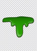 Líquido verde, salpicaduras y manchas. Ilustración de vector de limo.