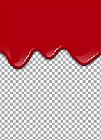 Blood or Strawberry syrup or Ketchup on transparent background. Vector illustration