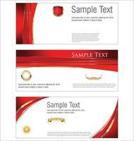 Verzameling van horizontale banners sjablonen vector illustratie