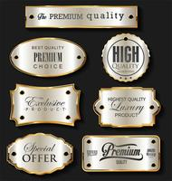 Gouden en zilveren verkoop labels retro vintage design collectie