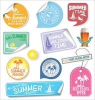 Summer design labels and typography design templates