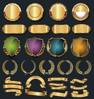 Luxury gold and silver design elements collection