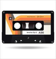 Illustration vectorielle de cassette vintage rétro bande concept plat
