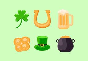 st patricks day clipart set vecteur