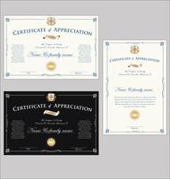 Plantilla de certificado elegante vector