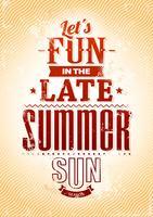 Typographie d'été