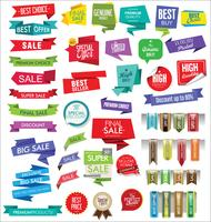 Modern sale banners and labels collection vector