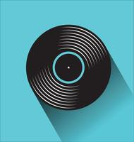 Illustrazione piana di vettore di concetto di giorno nero del negozio di dischi nero