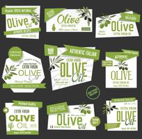 Vector collection of olive oil labels