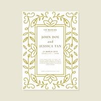 Wedding Invitation Card Vector Template