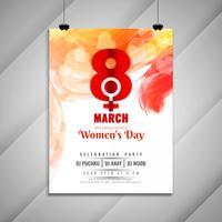 Einladungskartenschablone der Feierparty der abstrakten Frauen Tages schöne
