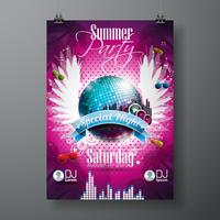 Vector Summer Beach Party Flyer Design
