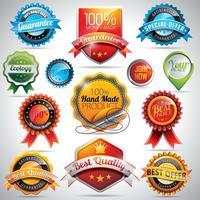 Vecteur série d'étiquettes et badges illustration
