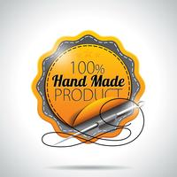 Vector  Hand Made Product Labels Illustration