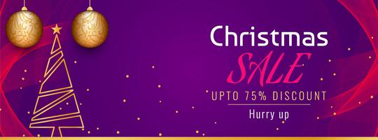 Abstract Christmas sale promotional banner template