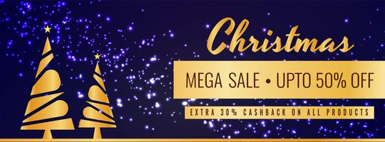 Abstract Merry Christmas sale modern banner template