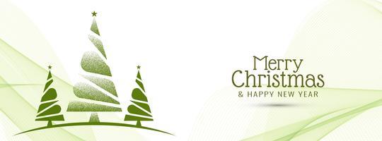 Elegant Merry Christmas banner template