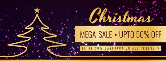 Merry Christmas festival sale banner template