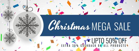Merry Christmas sale banner colorful template