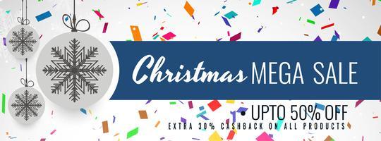 God julförsäljning banner färgstark mall