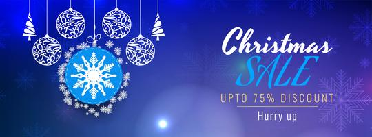 Merry Christmas sale modern banner template