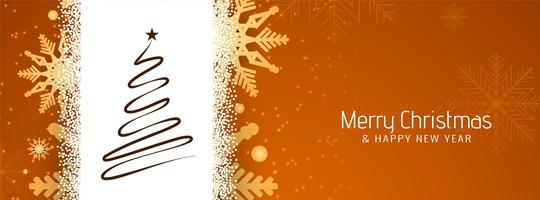 Modelo de banner decorativo abstrato feliz Natal