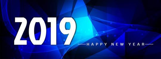 Resumen año nuevo 2019 elegante banner plantilla