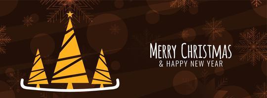 Modèle de bannière de joyeux Noël élégant