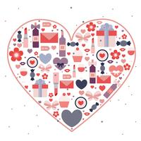 Tarjeta de felicitación del día de San Valentín del vector