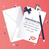 Vektor-Valentinstag-Illustration