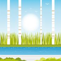Vector lente landschap illustratie