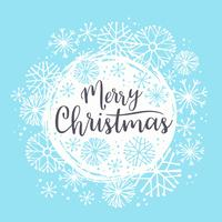 Merry Christmas lettering designs. Vector elements.