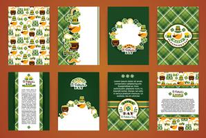 Saint Patrick's Day backgrounds. Vector Design Templates Collection