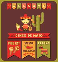 Cinco de Mayo. Vector illustratie