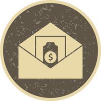 Enviando dinero icono de vector