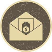 Sänder pengarvektorns ikon