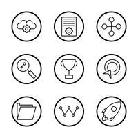 Satz von Vector SEO Search Engine Optimization Icons