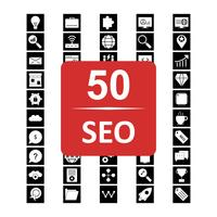 Set med Vector SEO sökmotoroptimering ikoner