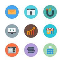 Conjunto de vetor SEO Search Engine Optimization Icons