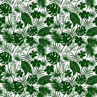 Seamless exotic pattern with tropical plants.