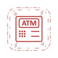 icône de vecteur de machine atm