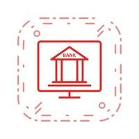 Icono de Vector de banca en línea