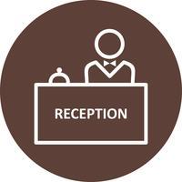 Ícone de vetor de recepção